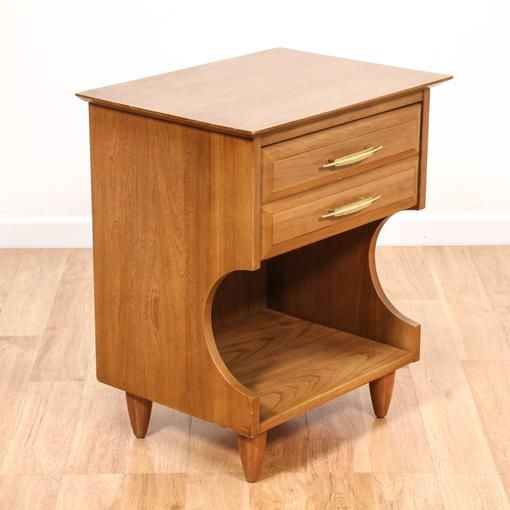 Mid Century Modern Elm Nightstand W/ Drawer | Loveseat Vintage Furniture  San Diego U0026 Los Part 21