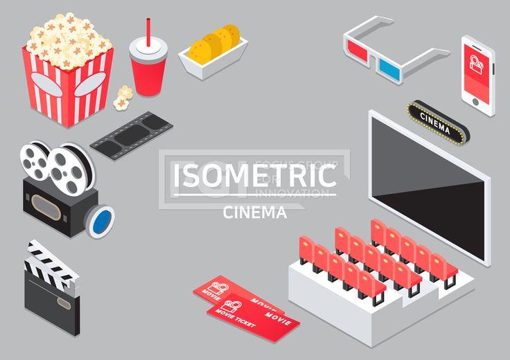 ILL193, 프리진, 일러스트, 프레임, 생활, 아이소메트릭, 그래픽, 입체, 오브젝트, 웹활용소스, 면, 다양한, 일러스트, 육면체, 3D, 도형, 컨셉, 테마, 주제, 레이아웃, 영화, 영화관, 스크린, 화면, 영상, 비율, 영사기, 필름, 슬레이트, 음식, 간식, 식품, 팝콘, 통, 콜라, 음료, 탄산, 나쵸, 과자, 표, 티켓, 관람, 의자, 자리, 좌석, 계단식, 3D안경, 안경, 휴대폰, 어플, 예매, 빨간, 빨강, 흰색, 회색, 파란, 푸른, 파랑, 녹색, 초록, 노랑, 검정, 분홍색, 단면, #유토이미지