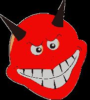 Diabełki, diabły - gify animowane obrazki