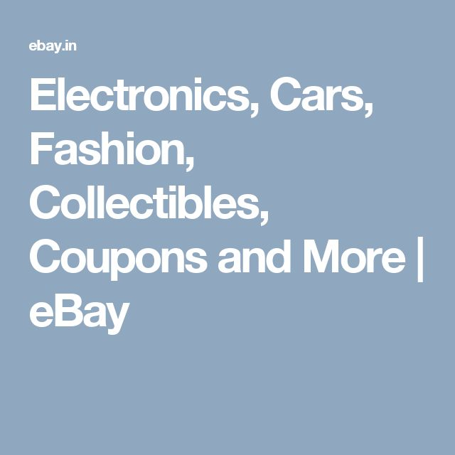 Electronics, Cars, Fashion, Collectibles, Coupons and More | eBay