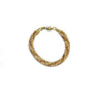 Kumihimo gold bracelet