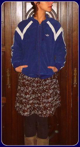 ADIDAS Vintage Tracktop Jacke Oldschool Trainingsjacke 38 40 Rarität Nicki Stoff | eBay