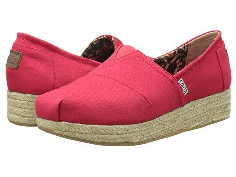 Bobs From Skechers Wedge Espadrille Memory Foam Red