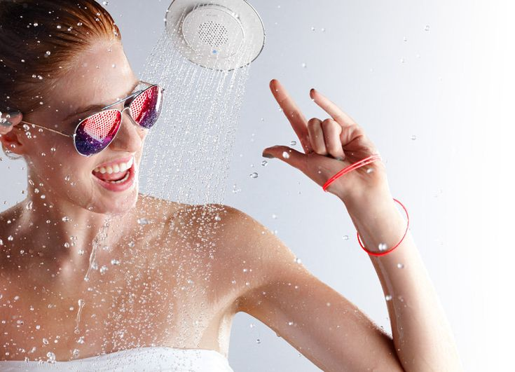 Get Me Wet! Enjoy the Boomboom Music when you shower with Showerhead Kohler Moxie and Wireless Speaker