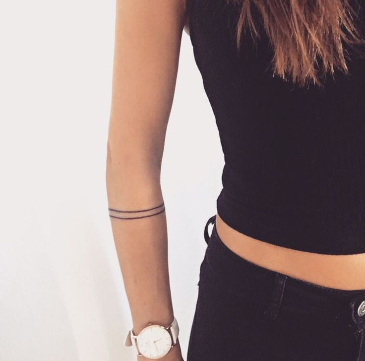 Armband tattoo. Minimalistic lines. Simplicity.                                                                                                                                                                                 More