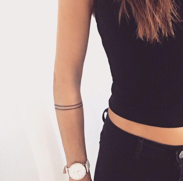 Armband tattoo. Minimalistic lines. Simplicity.