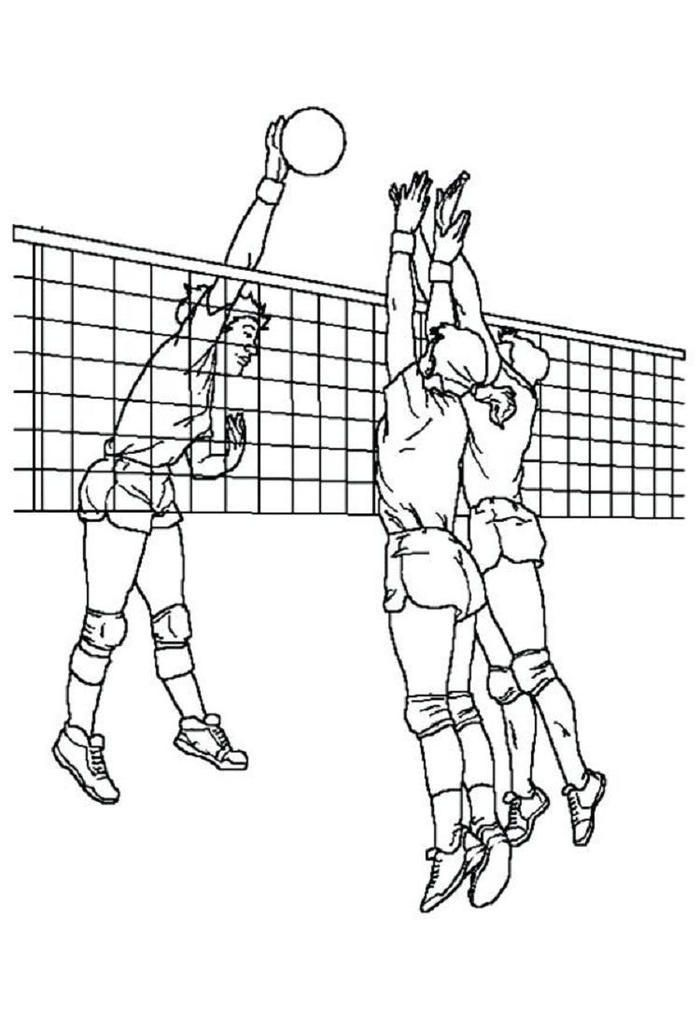 Cool Volleyball Coloring Pages Sports Coloring Pages Coloring