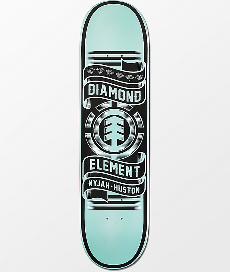 Element x diamond supply co nyjah huston 80 skateboard