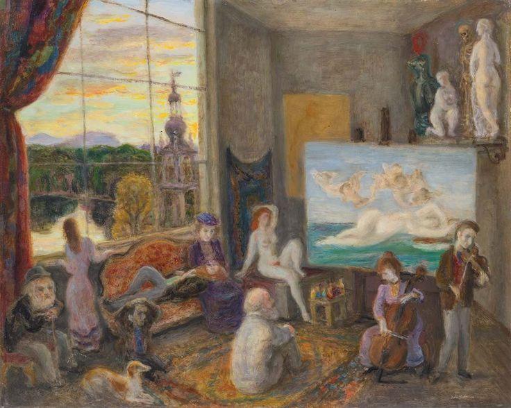 Szabó Vladimir (1905-1991) Műterem a századfordulón, 1978