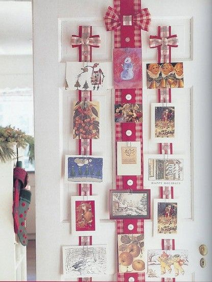 Best ideas about christmas card display on pinterest