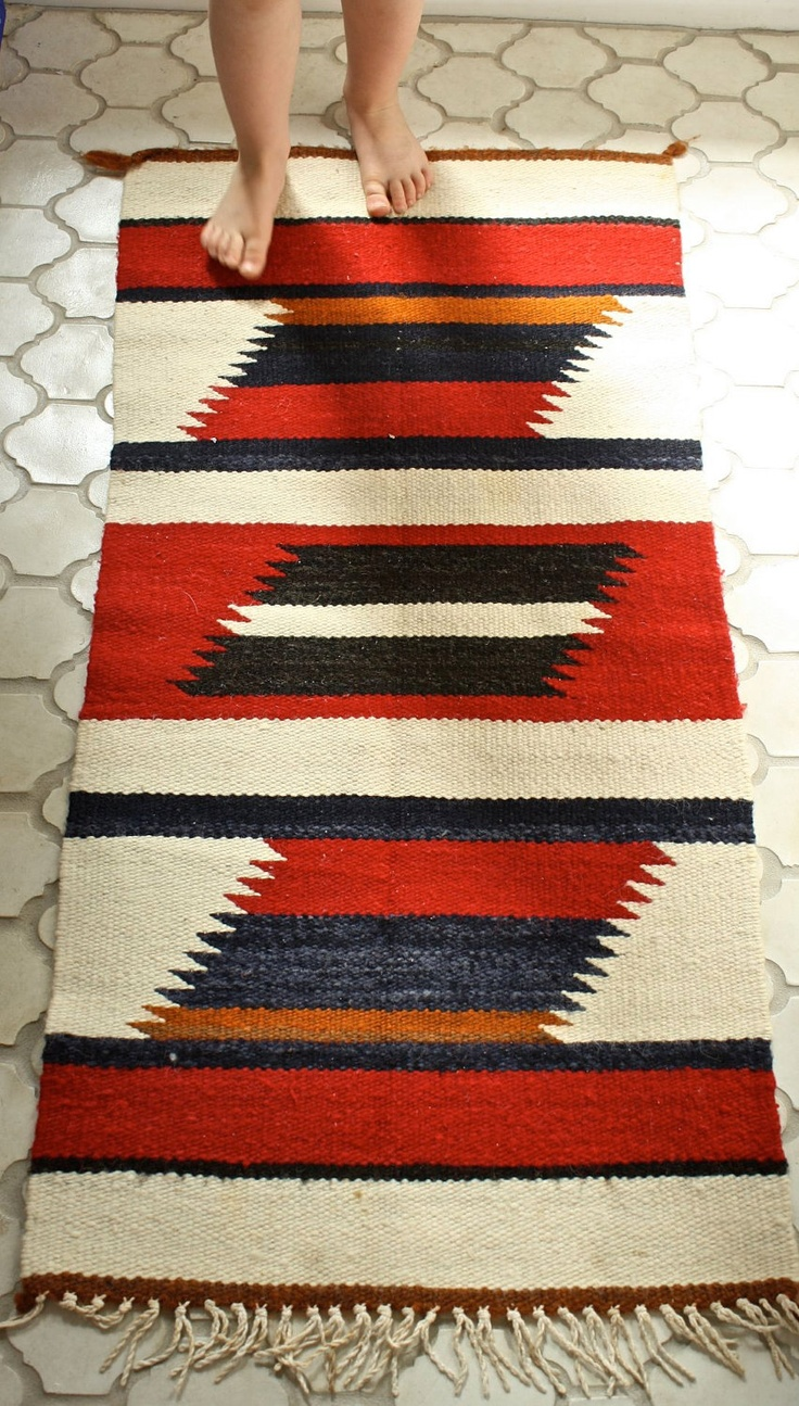 Navajo Rug Wall Hanging Wool Native American Woven