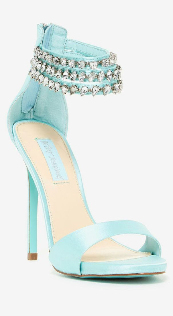 Mint Embellished Sandals //