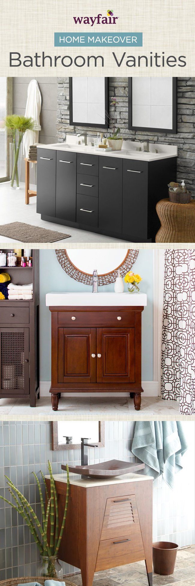 Purchasing a bathroom vanity for your home can help you redesign your bathroom space. There are many different types of bathroom vanities, including single vanities that are perfect for a small bathroom. Visit Wayfair and sign up today to get access to exclusive deals everyday up to 70% off. Free shipping on all orders over $49.