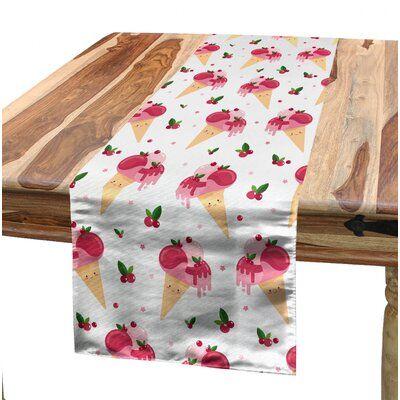 East Urban Home Ambesonne Eis Tischläufer, Childish Pattern Melting Cranb …   – Products