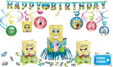 Spongebob Party Decorations Kit - Boys Birthday Party Themes - Boys Birthday - Birthday Party Supplies - Party City