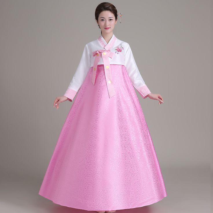 Korean Traditional Dress Korean National Costume Women Clothes Long Sleeve Female Hanbok Korean Dress Halloween Costume Cosplay