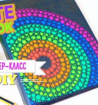 Dot painting easily with a simple pencil eraser // Pontozó (pöttyöző) festés házilag egyszerűen ceruza radírral // Mindy - craft tutorial collection