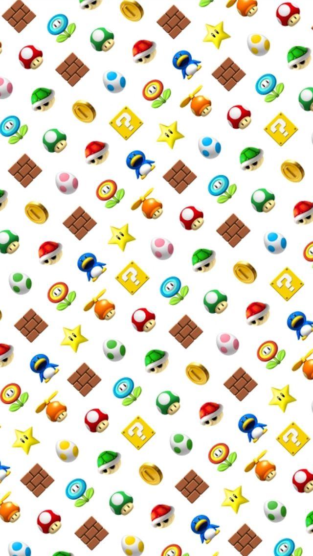 Mario;  iPhone Wallpaper.