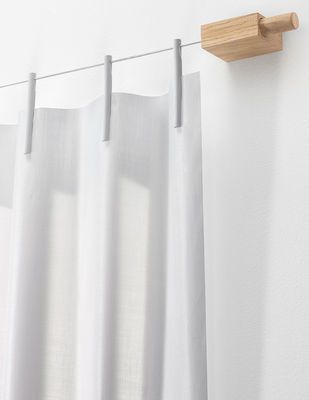 Kit Ready Made Curtain / Rideau + fixation - Intissé - L 210 x H 300 cm
