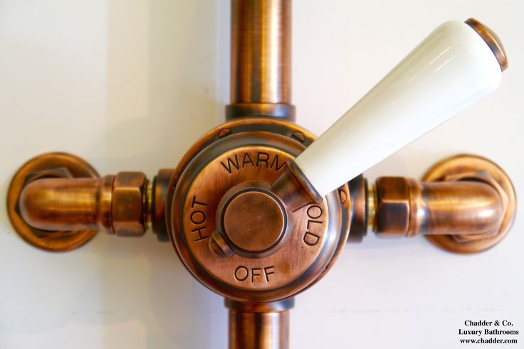 Chadder Exposed Shower Valve in our unique French Oil Rubbed Copper Finish…