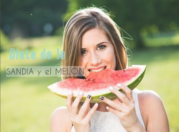dieta de la sandia y el melon