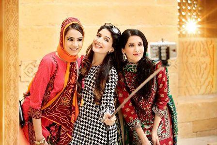 Latest Nishat Linen Winter Dress 2014-2015 Collection 2