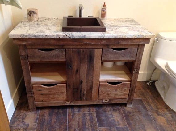 Fabulous Custom Rustic Vanity 48 Reclaimed Barn Wood 1235 This Best Image Libraries Sapebelowcountryjoecom
