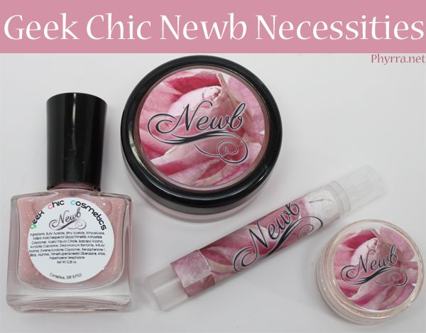 Geek Chic Cosmetics Newb Necessities Collection Review via @Phyrra #vegan #crueltyfree
