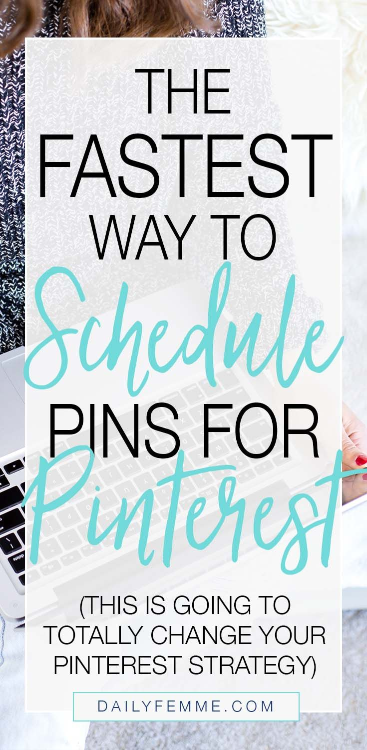 Keeping up with social media can be a little overwhelming - that's why I schedule pins for Pinterest. Read on for a quick tutorial on how to schedule pins fast.