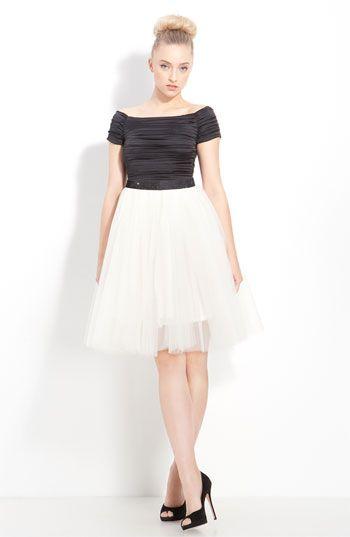 Alice + Olivia Ruched Off Shoulder Dress available at Nordstrom
