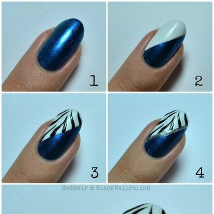 Beautiful Black Zebra Stripes Nail Art Tutorial