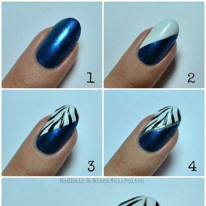 Beautiful Black Zebra Stripes Nail Art Tutorial