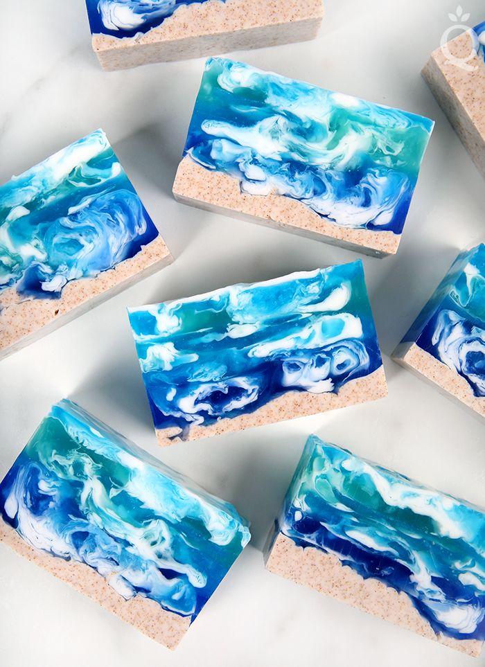 Seascape Melt Pour Soap Tutorial Soap Queen Recipe Soap Tutorial Soap Recipes Blue Soap
