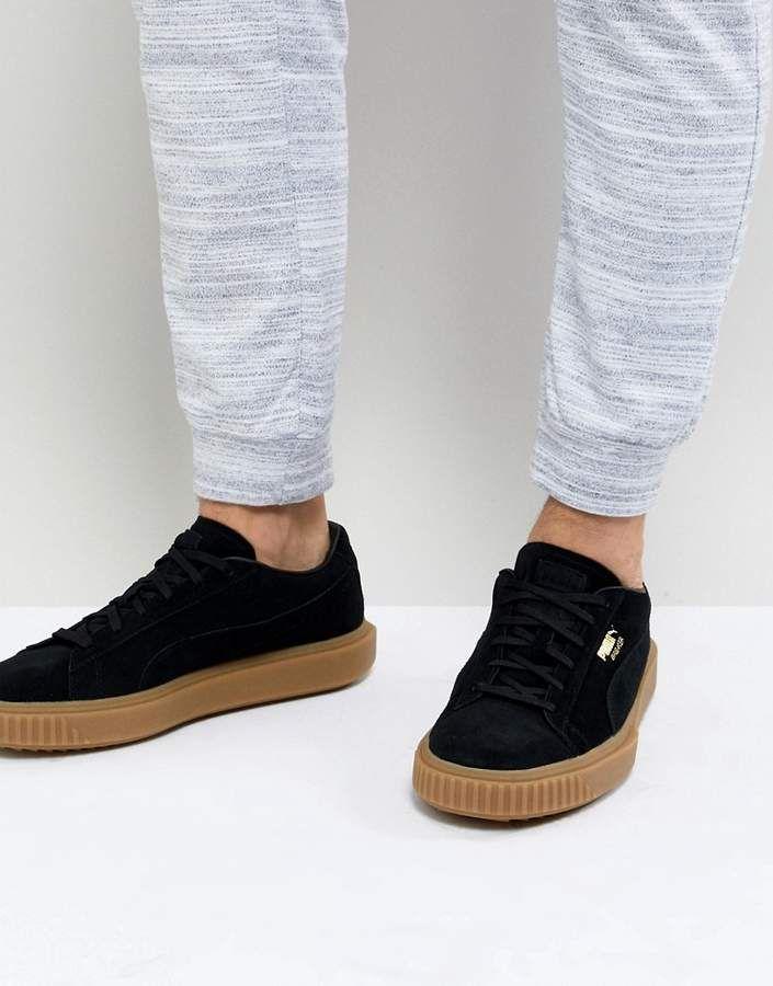 3a659a2c7be Puma Breaker Suede Gum Sneakers In Black 36607901