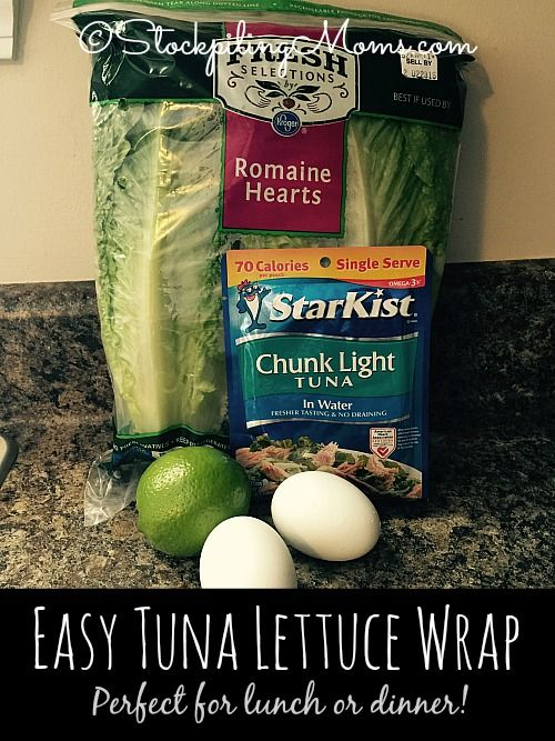 Need a clean eating, healthy Lent recipe, then this is the one - Easy Tuna Lettuce Wrap is perfect for lunch or dinner!