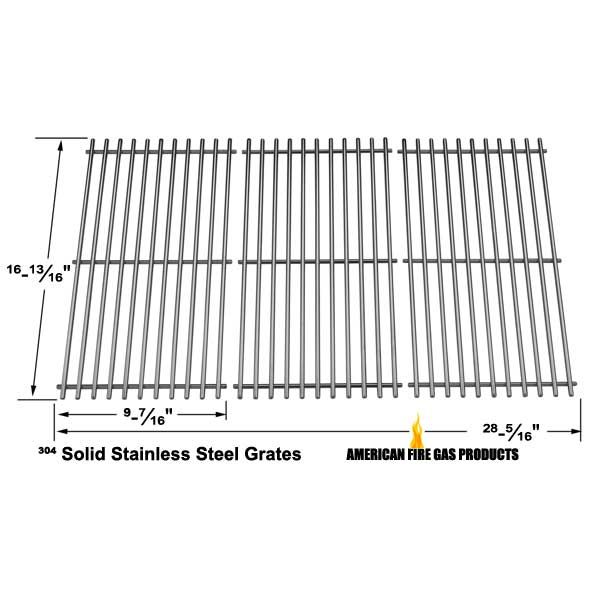 3 PACK STAINLESS STEEL COOKING GRID FOR MASTER CHEF G43215, SHINERICH KINGSTON SRGG51111, HENDERSON SRGG51111, KENMORE 463420507 GAS GRILL MODELS Fits Compatible Master Chef Models : G43215, G43216, S482, 199-4758-2, 199-4759-0, 85-3024-4, 85-3025-2, 85-3064-8, 85-3065-6, 85-3100-2, 85-3101-0, G43205, G43209, G43237, G43238, G55101, G55102, S480, S550, T480 Read More @http://www.grillpartszone.com/shopexd.asp?id=33986&sid=26060