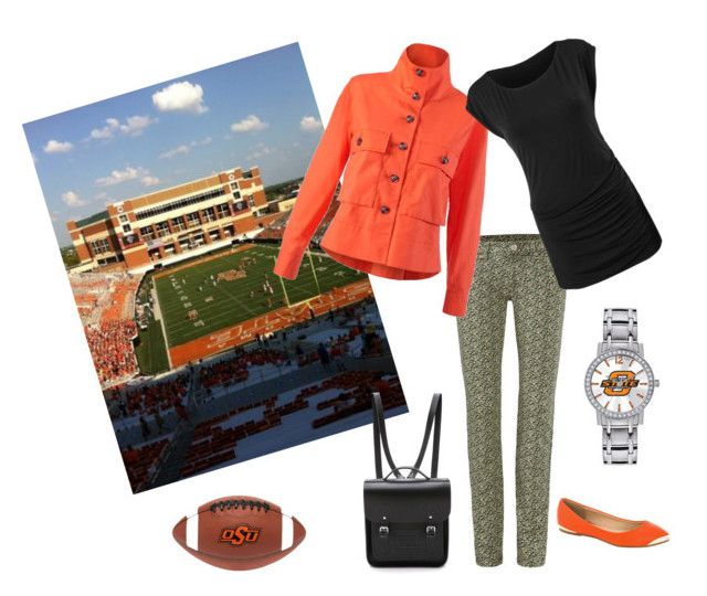 """OSU game day"" by suelynn-griggs on Polyvore featuring Game Time, The Cambridge Satchel Company and Rawlings"