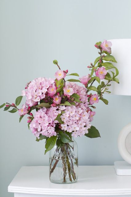 Pink camellias & flowers for a fresh, clean effect