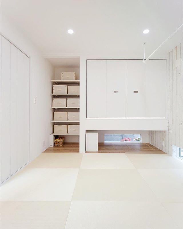 フレンチカントリーテイストな和室 和室 フレンチカントリー 収納