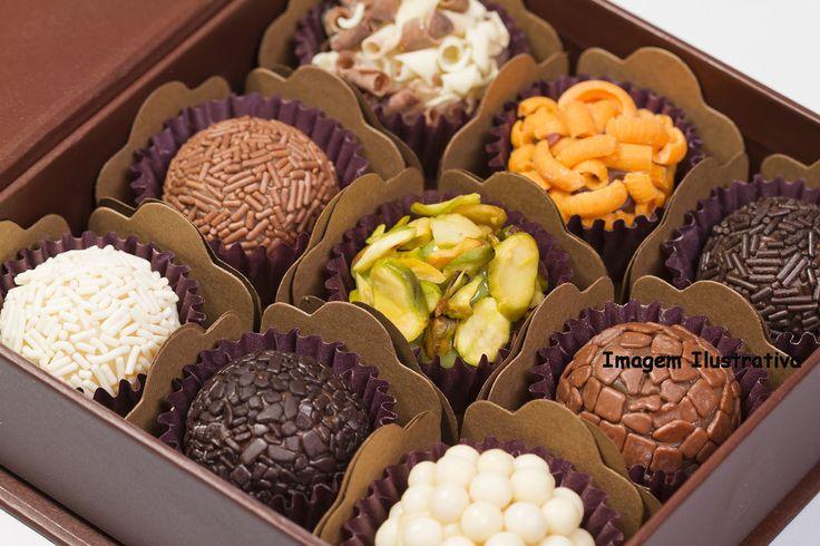 assorted brigadeiro sweets from Rio de Janeiro*