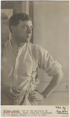 Georges Braque, 1923 Photo by Man Ray ~ Braque, co-founder of Cubism with Picasso.