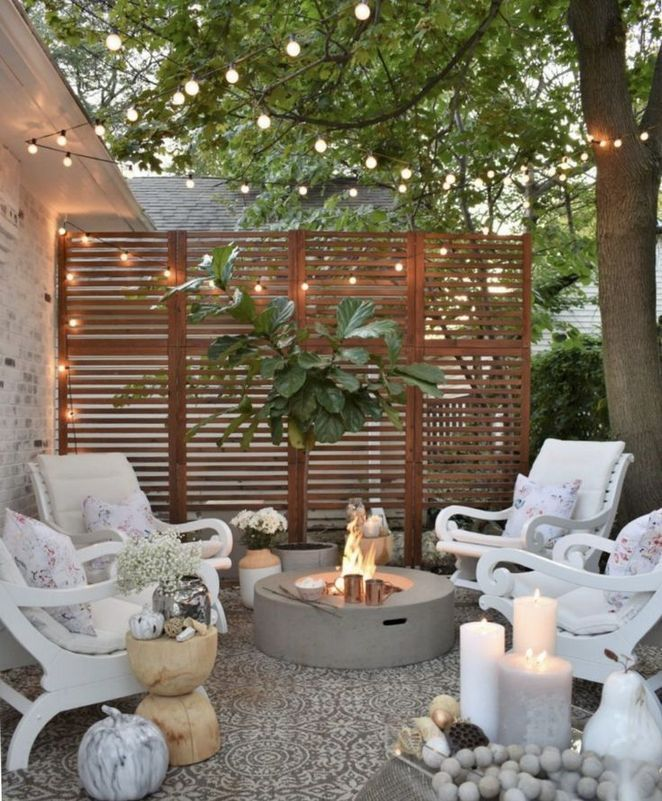 17 Successful Techniques For Outdoor Space Ideas Privacy Screens You Can Begin To Use Today Small Outdoor Patios Small Backyard Landscaping Backyard Patio