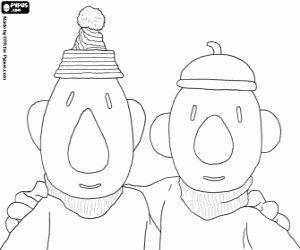 Pat en Mat, de grappigste klusjesmannen. Buurman en Buurman, De twee stuntels kleurplaat