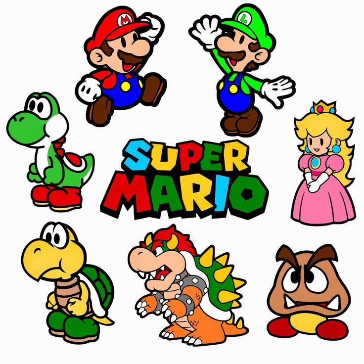 17 Bsta Bilder Om Printables P Pinterest Super Mario Bros Clip Art Och Cupcake Toppers
