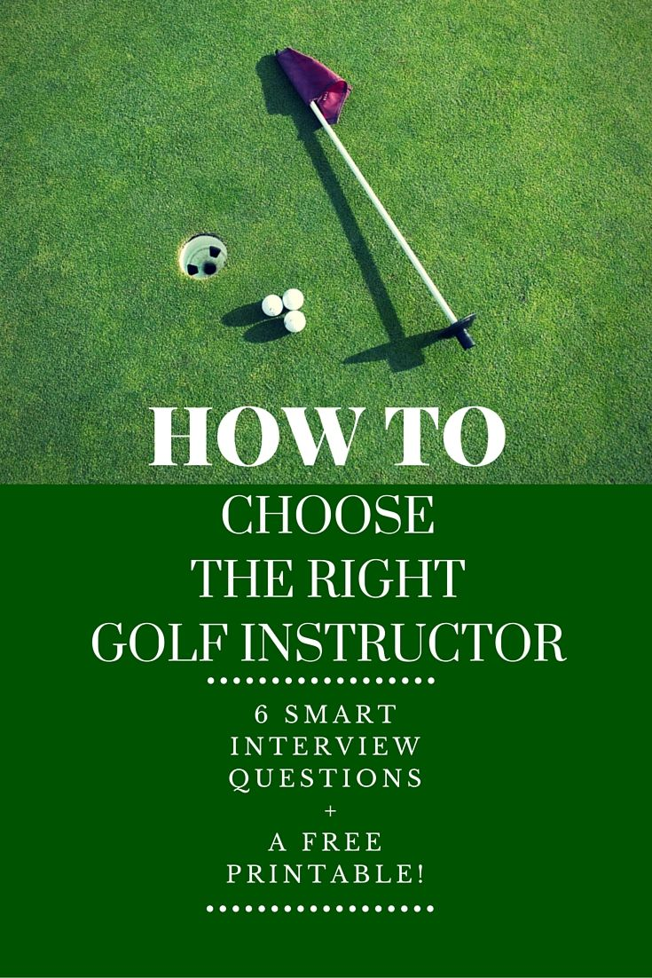 When you sit down with a new golf teacher, what questions should you ask? 6 Smart Interview Questions + A  -->> FREE PRINTABLE <<--
