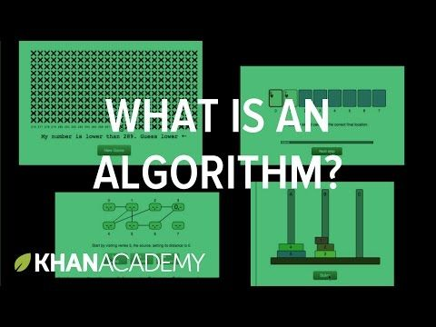 What is an algorithm and why should you care? - YouTube