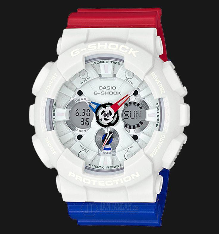 Beli jam tangan Casio G-Shock GA-120TRM-7ADR - Water Resistance 200M Tricolor…
