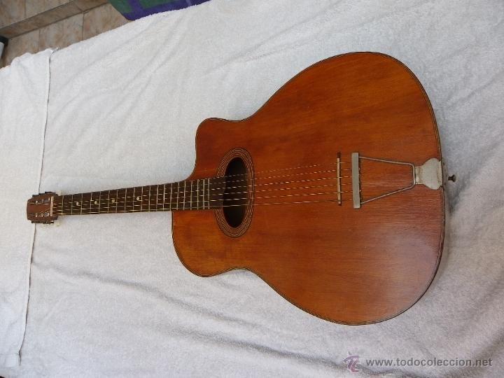 ANTIGUA GUITARRA DE JAZZ FRANCÉS (Música - Instrumentos Musicales - Guitarras Antiguas)