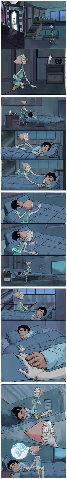 What Pearl does during all those nights she watched Steven sleeping
