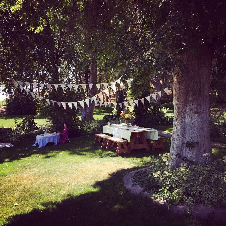 Outdoor garden tea party for my daughter's 5th birthday.